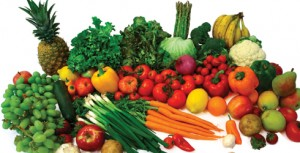 Fruits and Vegetables- high in nutrients and fibre