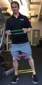 personal trainer Craig shows how to use walking bands
